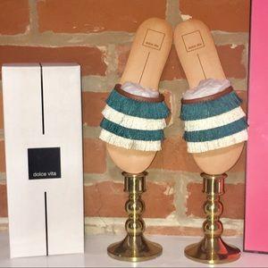 Dolce Vita Celaya Jade Fringe Sandals